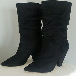 Chinese Laundry Rosa Black Suede Boots